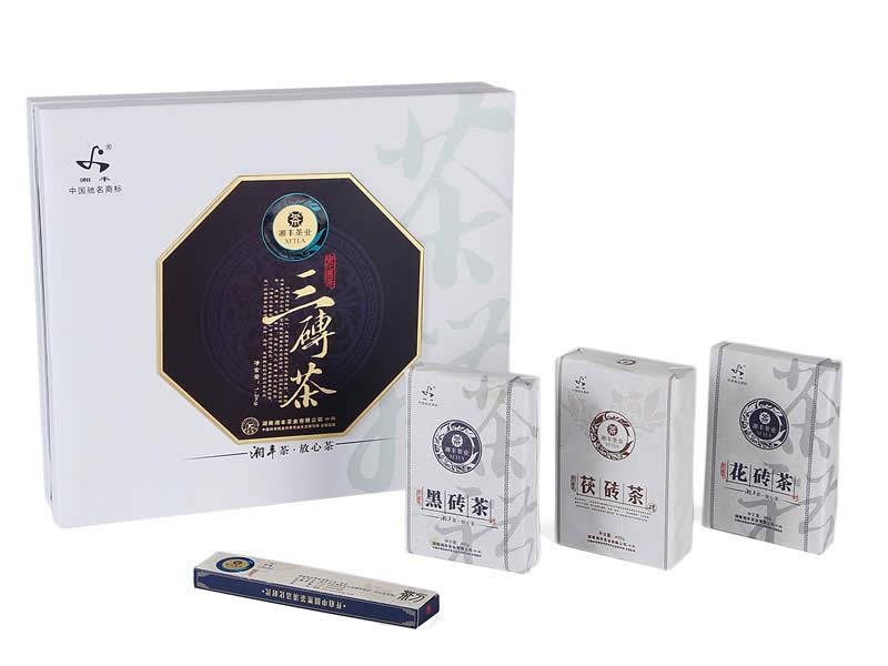 三砖茶礼盒1.2kg(湘丰2012)2